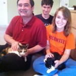 Olive & Veggie with their New Family