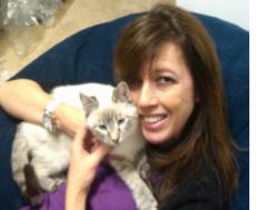 Angela Lovejoy & her FURR kitty, Karma