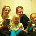 Dino & Pebbles with their New Family