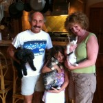 Grayson & Clyde with New Family